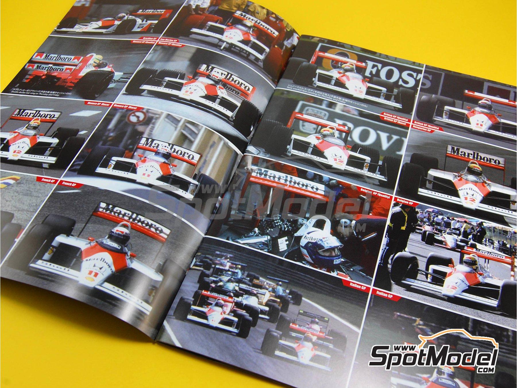 Image 7: McLaren Honda MP4/4 Marlboro - Campeonato del Mundo de Formula1 1988 | Libro de referencia fabricado por Model Factory Hiro (ref.MFH-MHB-1)