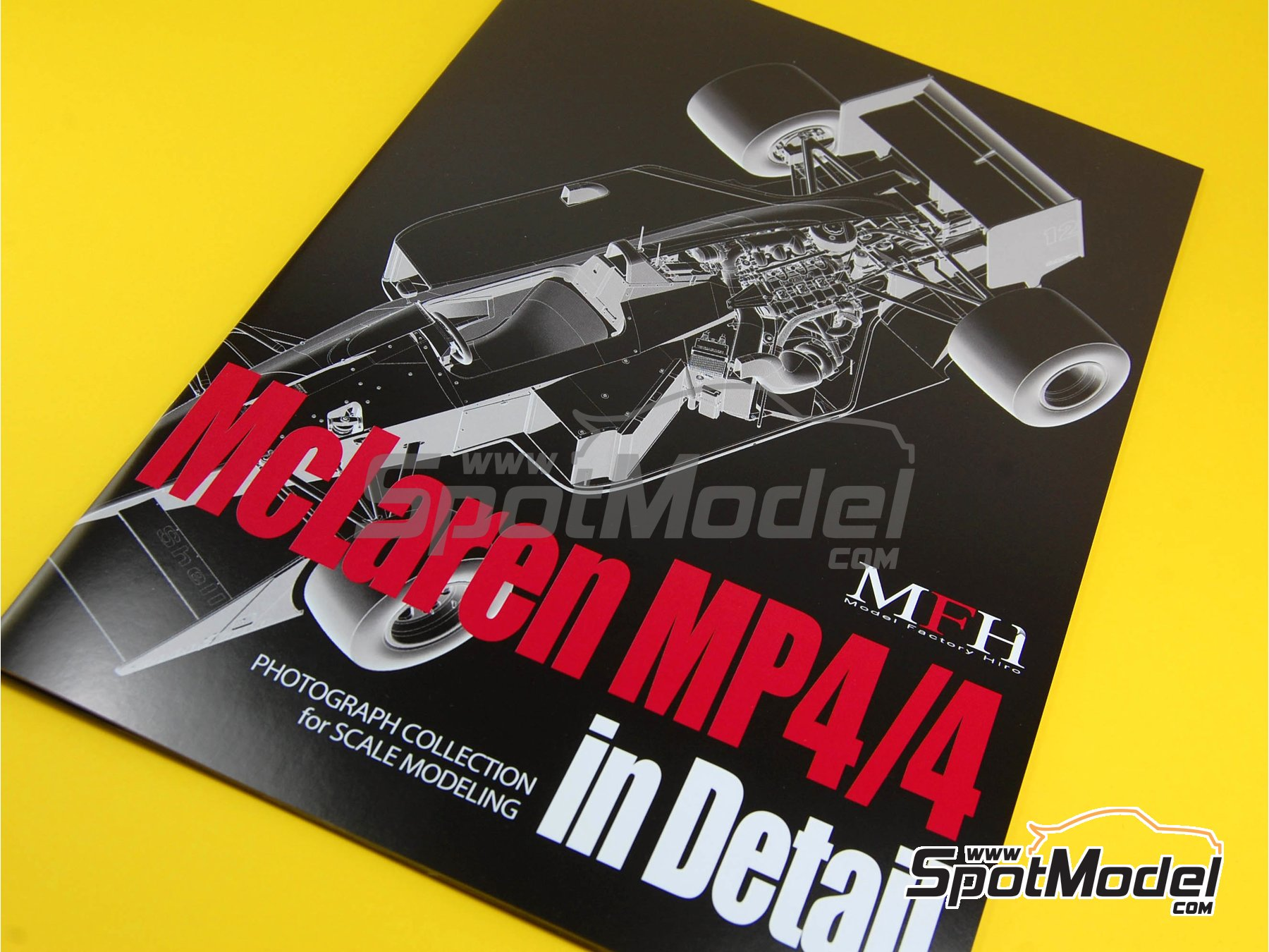 Image 8: McLaren Honda MP4/4 Marlboro - Campeonato del Mundo de Formula1 1988 | Libro de referencia fabricado por Model Factory Hiro (ref.MFH-MHB-1)