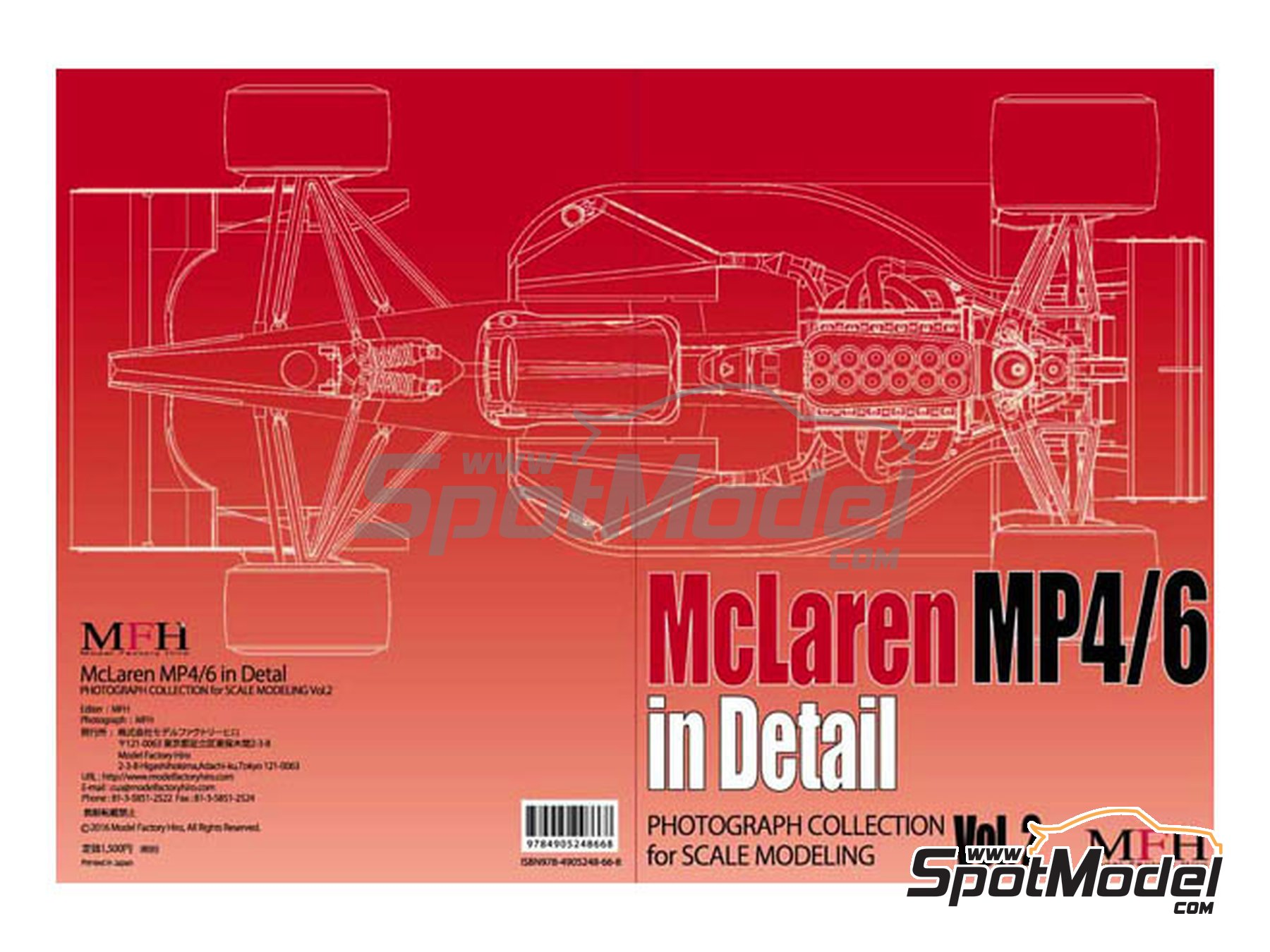 Image 1: McLaren Honda MP4/6 | Reference / walkaround book manufactured by Model Factory Hiro (ref.MFH-MHB-2)