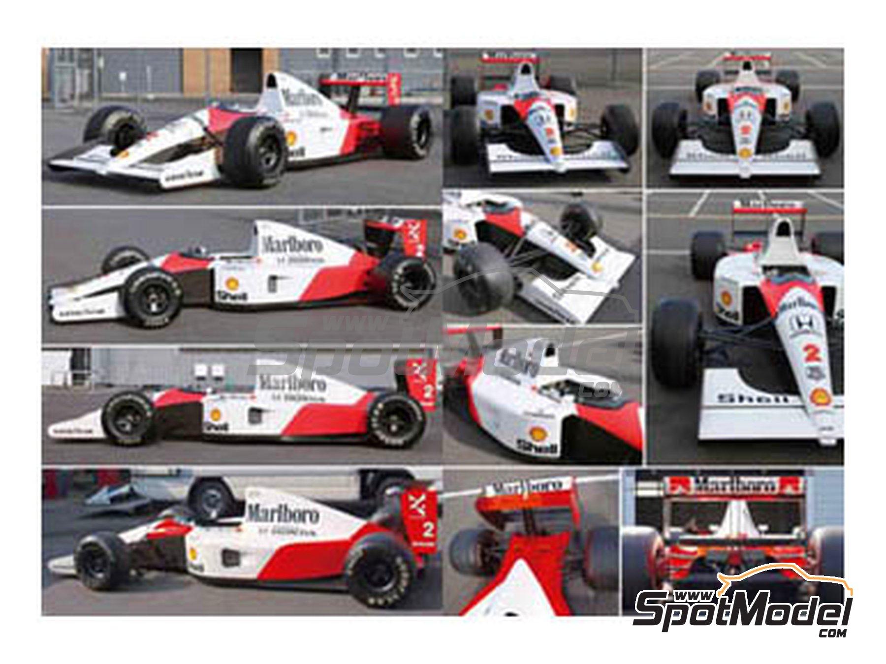Image 4: McLaren Honda MP4/6 | Libro de referencia fabricado por Model Factory Hiro (ref.MFH-MHB-2)
