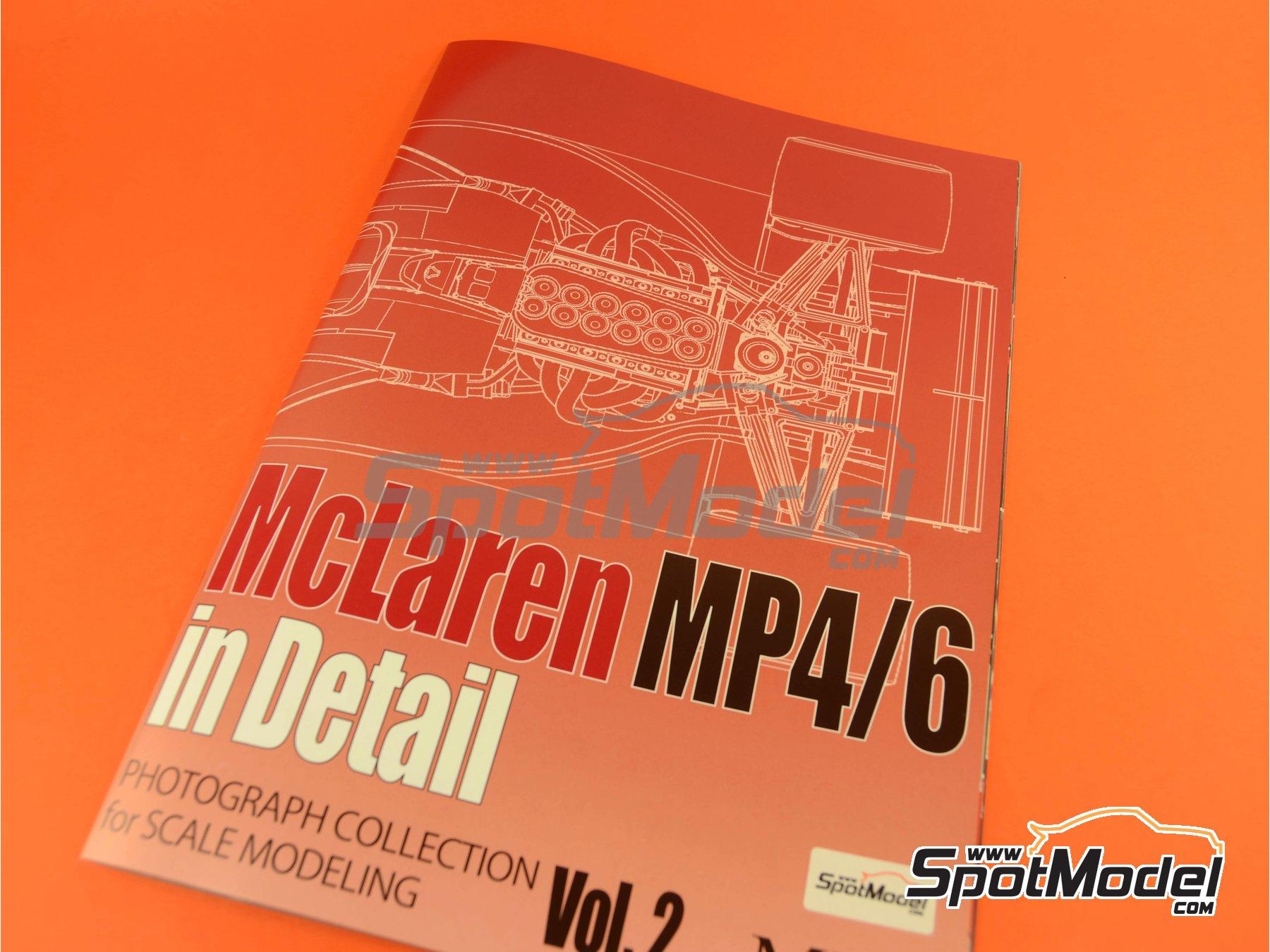 Image 5: McLaren Honda MP4/6 | Reference / walkaround book manufactured by Model Factory Hiro (ref.MFH-MHB-2)
