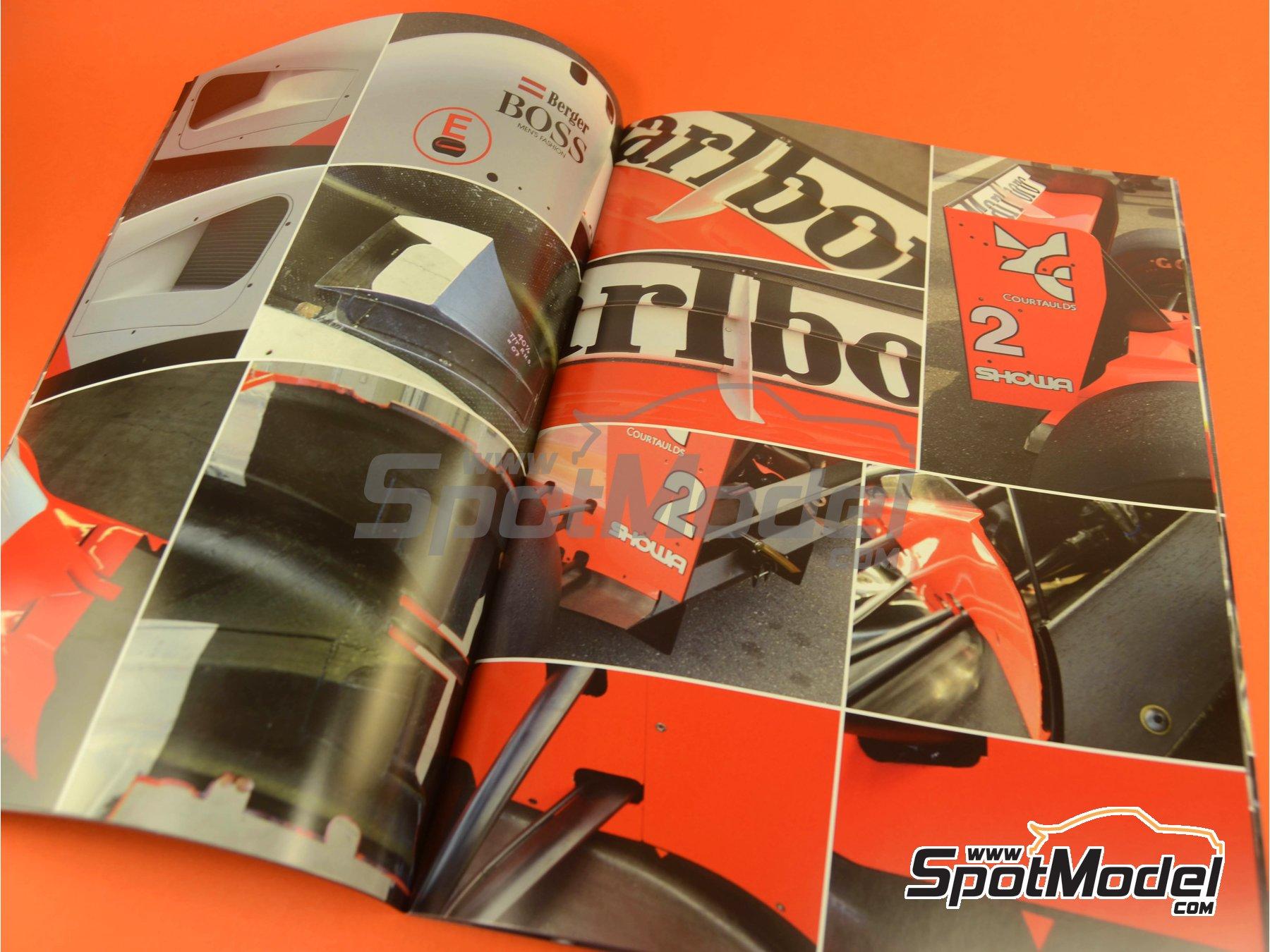 Image 7: McLaren Honda MP4/6 | Reference / walkaround book manufactured by Model Factory Hiro (ref.MFH-MHB-2)
