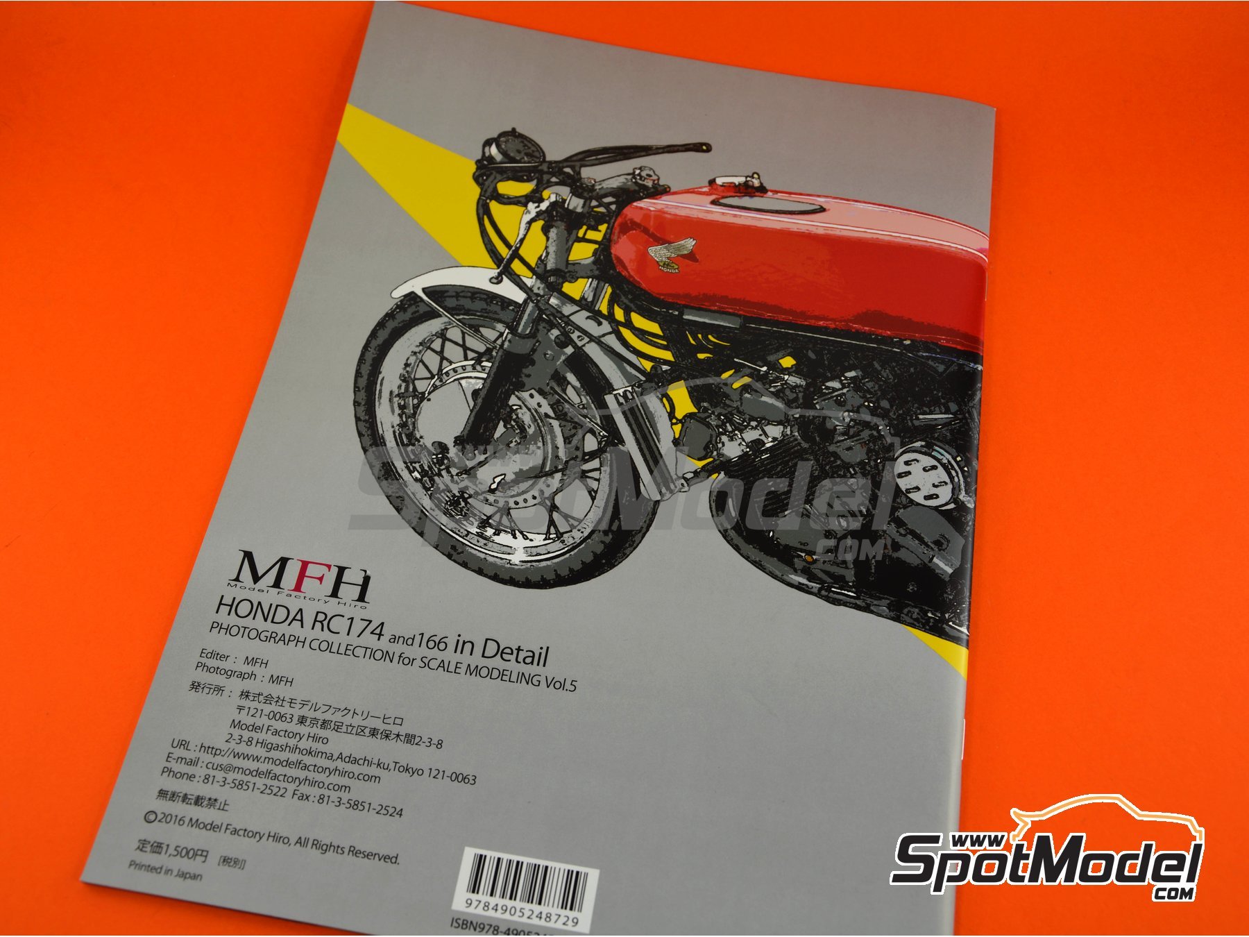 Image 5: Honda RC174 and RC166 | Reference / walkaround book manufactured by Model Factory Hiro (ref. MFH-MHB-5)