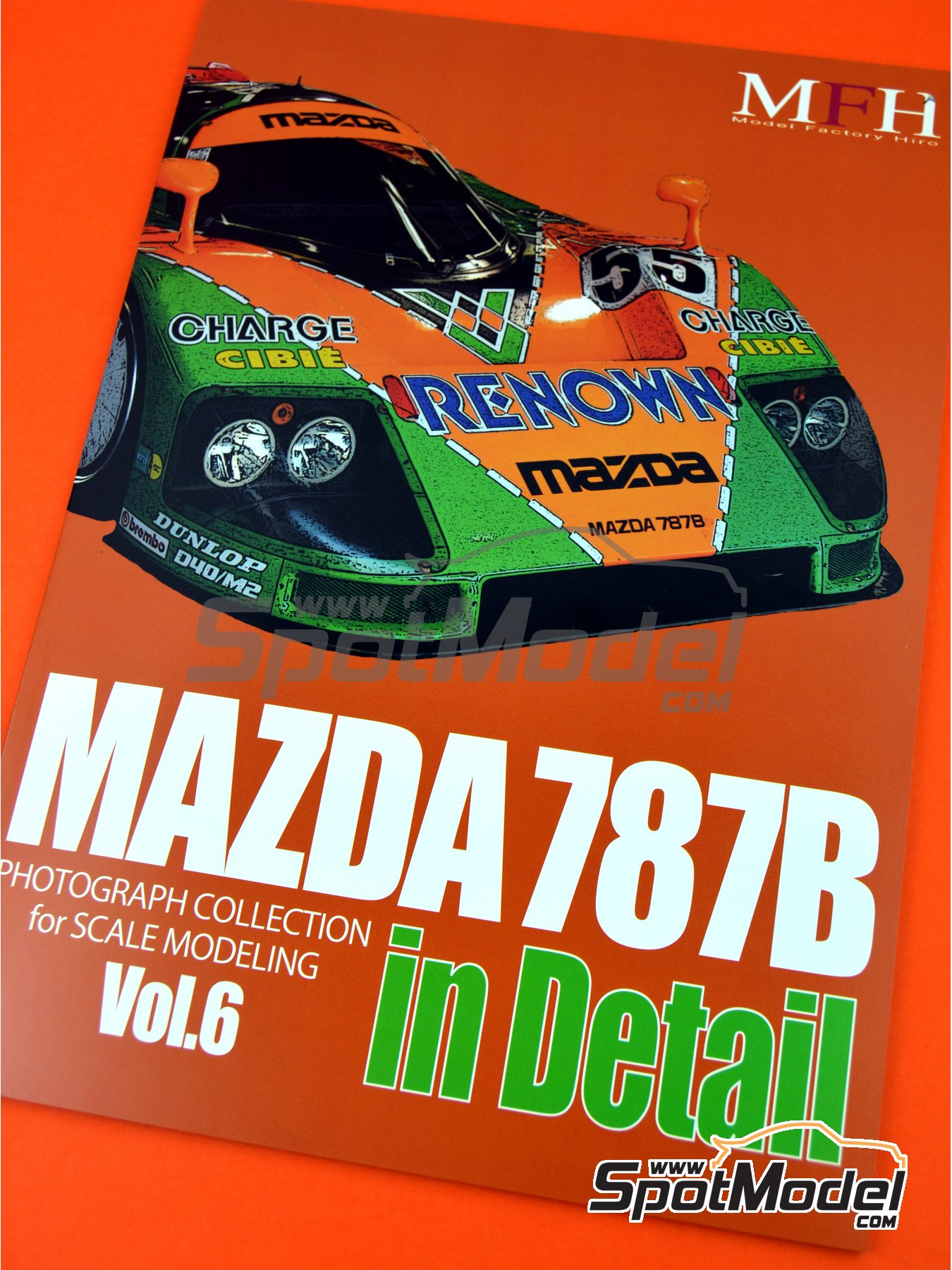 Mazda 787B | Reference / walkaround book manufactured by Model Factory Hiro (ref. MFH-MHB-6) image
