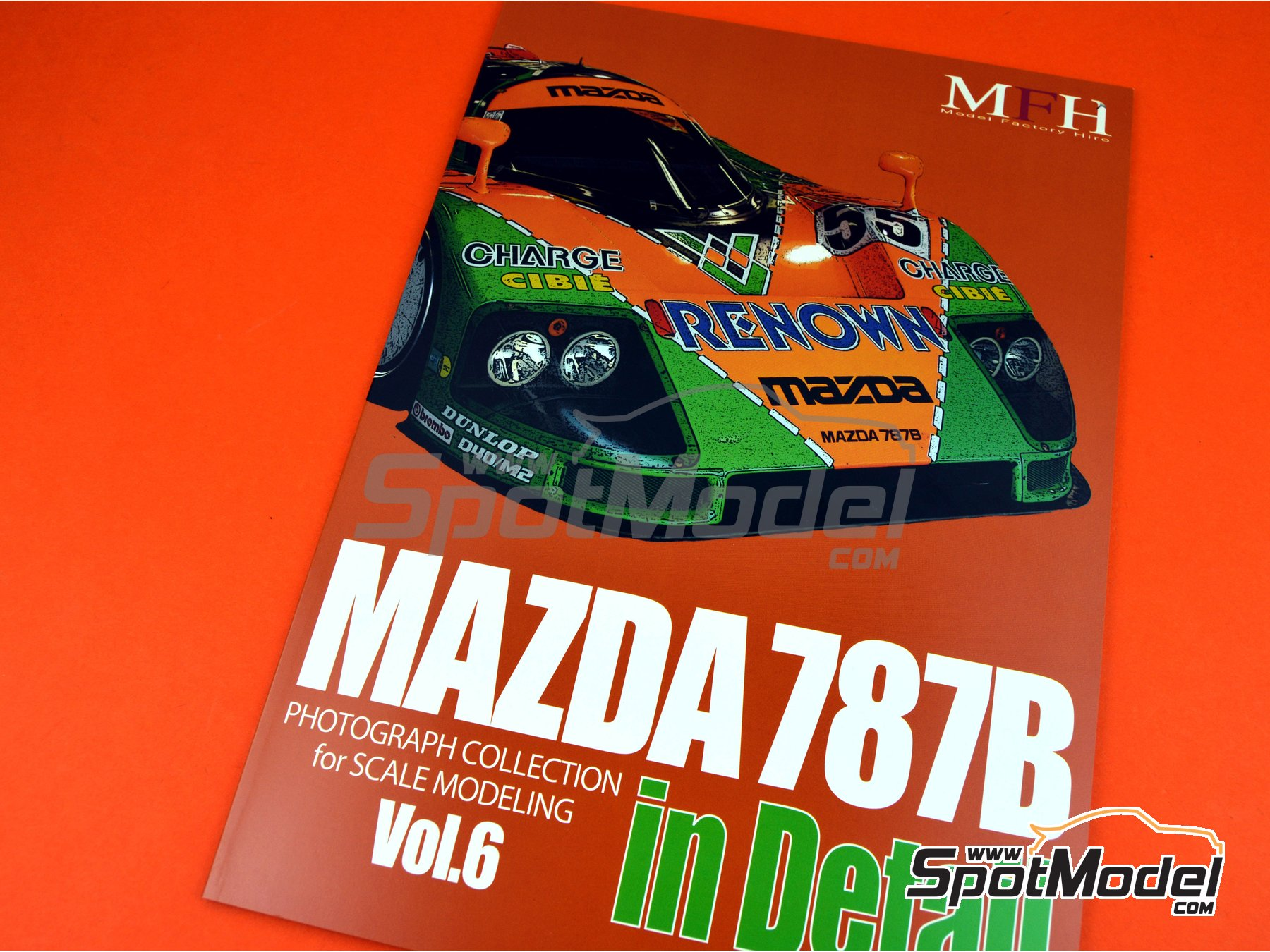 Image 1: Mazda 787B | Reference / walkaround book manufactured by Model Factory Hiro (ref. MFH-MHB-6)