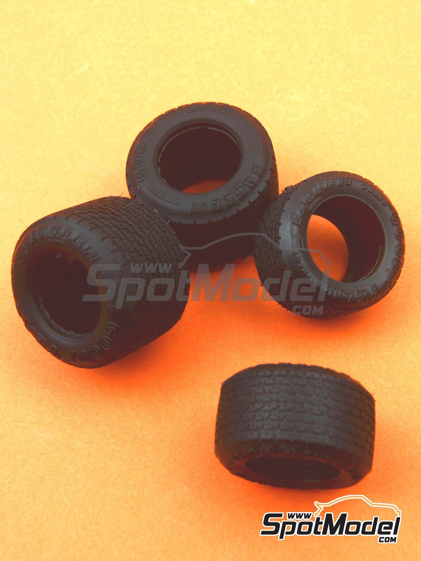 Juego de neumaticos de lluvia para F1 de los años 80 | Neumáticos en escala1/20 fabricado por Model Factory Hiro (ref.MFH-P1049) image