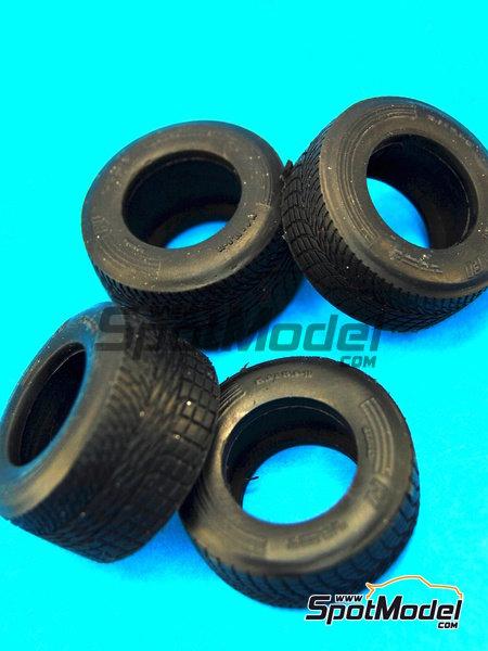 Neumaticos de lluvia estrechos - Campeonato del Mundo de Formula1 1990 | Neumáticos en escala1/20 fabricado por Model Factory Hiro (ref.MFH-P1051) image