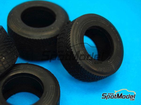 Image 4: Neumaticos de lluvia estrechos - Campeonato del Mundo de Formula1 1990 | Neumáticos en escala1/20 fabricado por Model Factory Hiro (ref.MFH-P1051)