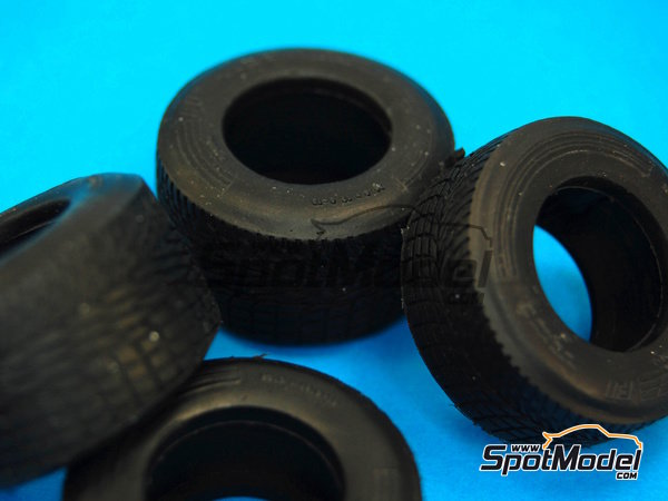 Image 5: Narrow rain tyres - FIA Formula 1 World Championship 1990 | Tyre set in 1/20 scale manufactured by Model Factory Hiro (ref. MFH-P1051)