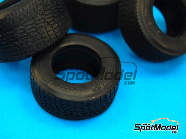 Image 7: Narrow rain tyres - FIA Formula 1 World Championship 1990 | Tyre set in 1/20 scale manufactured by Model Factory Hiro (ref. MFH-P1051)
