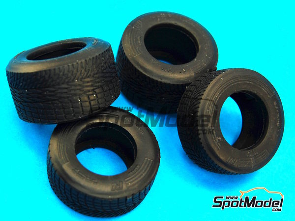 Image 8: Neumaticos de lluvia estrechos - Campeonato del Mundo de Formula1 1990 | Neumáticos en escala1/20 fabricado por Model Factory Hiro (ref.MFH-P1051)