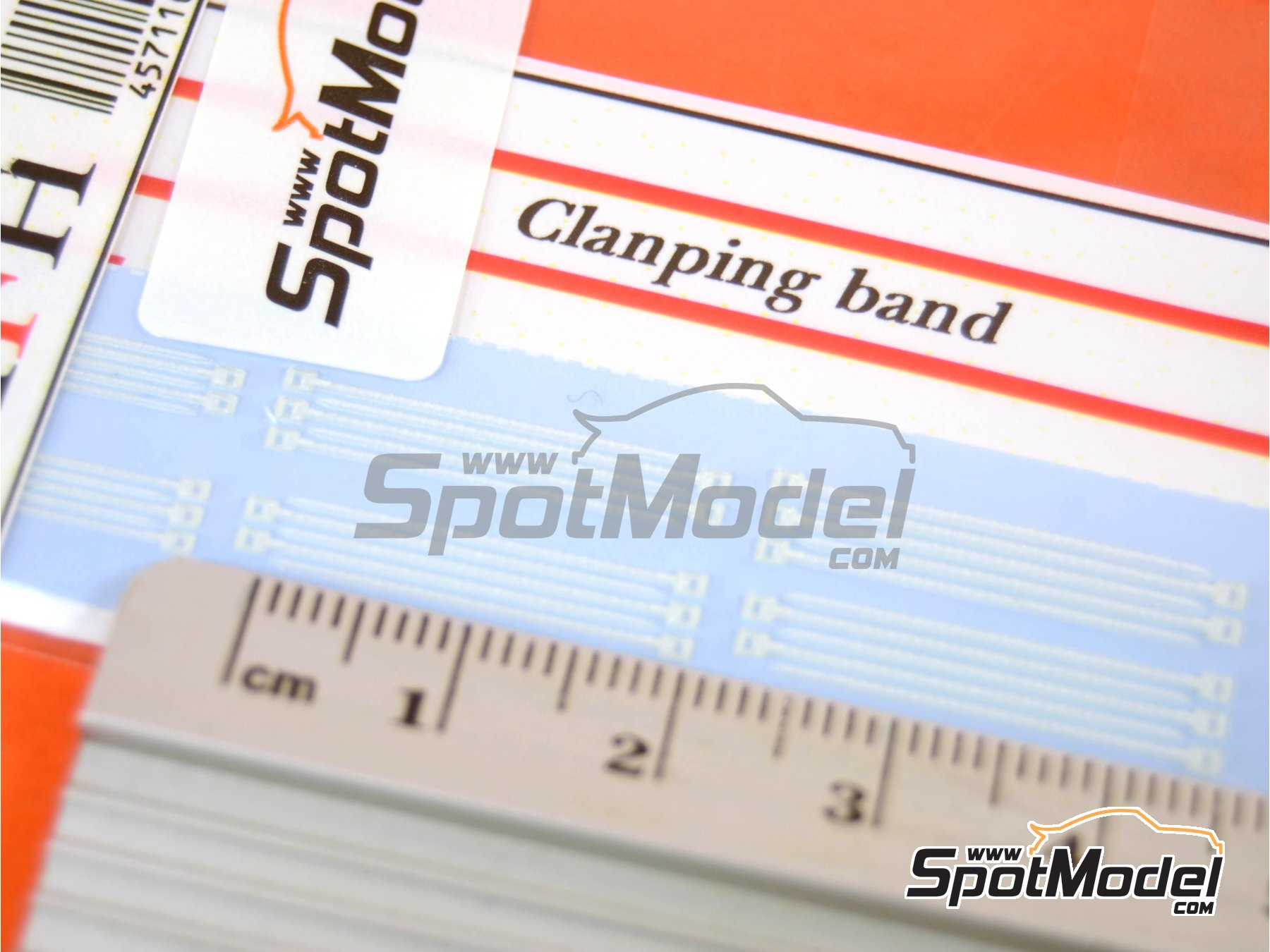 Image 2: Bridas blancas de tamaño pequeño | Abrazaderas en escala1/12 fabricado por Model Factory Hiro (ref.MFH-P1088)