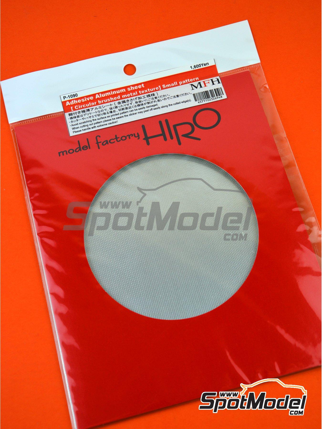 Aluminio con cepillado circular - trama pequeña | Material fabricado por Model Factory Hiro (ref.MFH-P1090) image