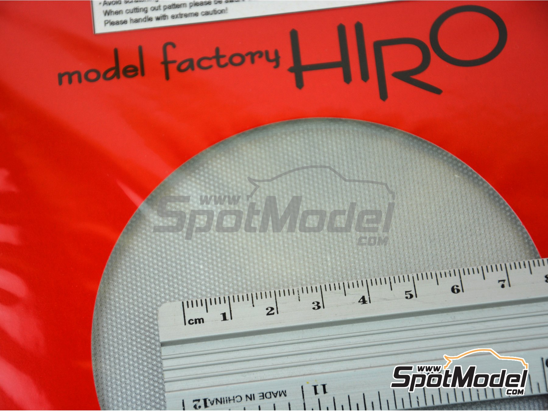Image 3: Circular aluminium brushed - small pattern | Material manufactured by Model Factory Hiro (ref. MFH-P1090)