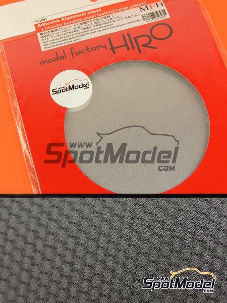 Aluminio con cepillado circular - trama grande | Material fabricado por Model Factory Hiro (ref.MFH-P1091) image
