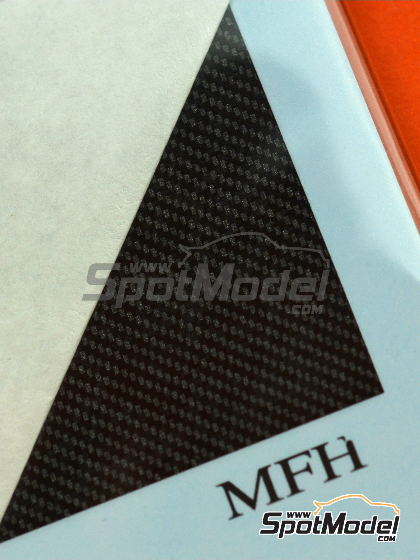 Carbon Decal Silver - Type 2 | Decals in 1/20 scale manufactured by Model Factory Hiro (ref. MFH-P1095) image