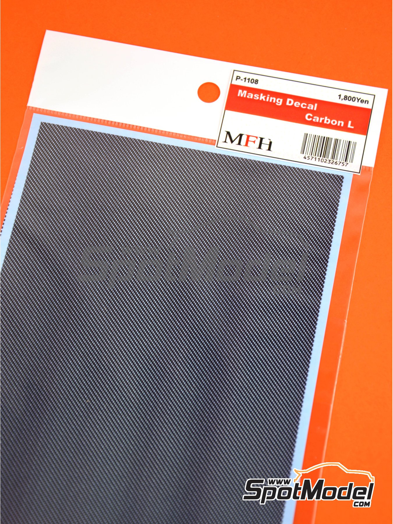 Large carbon fiber pattern | Masks manufactured by Model Factory Hiro (ref. MFH-P1108) image