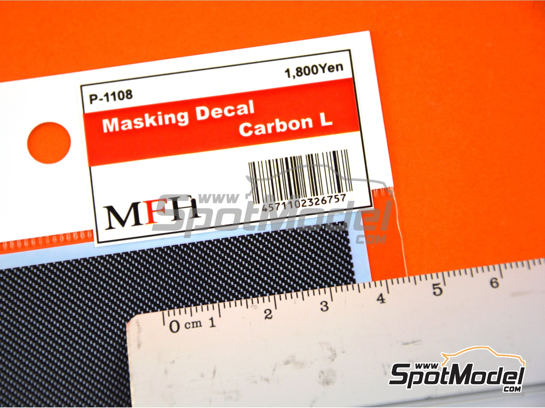 Image 2: Large carbon fiber pattern | Masks manufactured by Model Factory Hiro (ref. MFH-P1108)