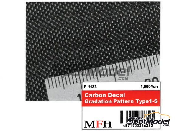 Image 2: Carbon Decal Gradation Pattern Type 1 Small | Decals manufactured by Model Factory Hiro (ref. MFH-P1133)