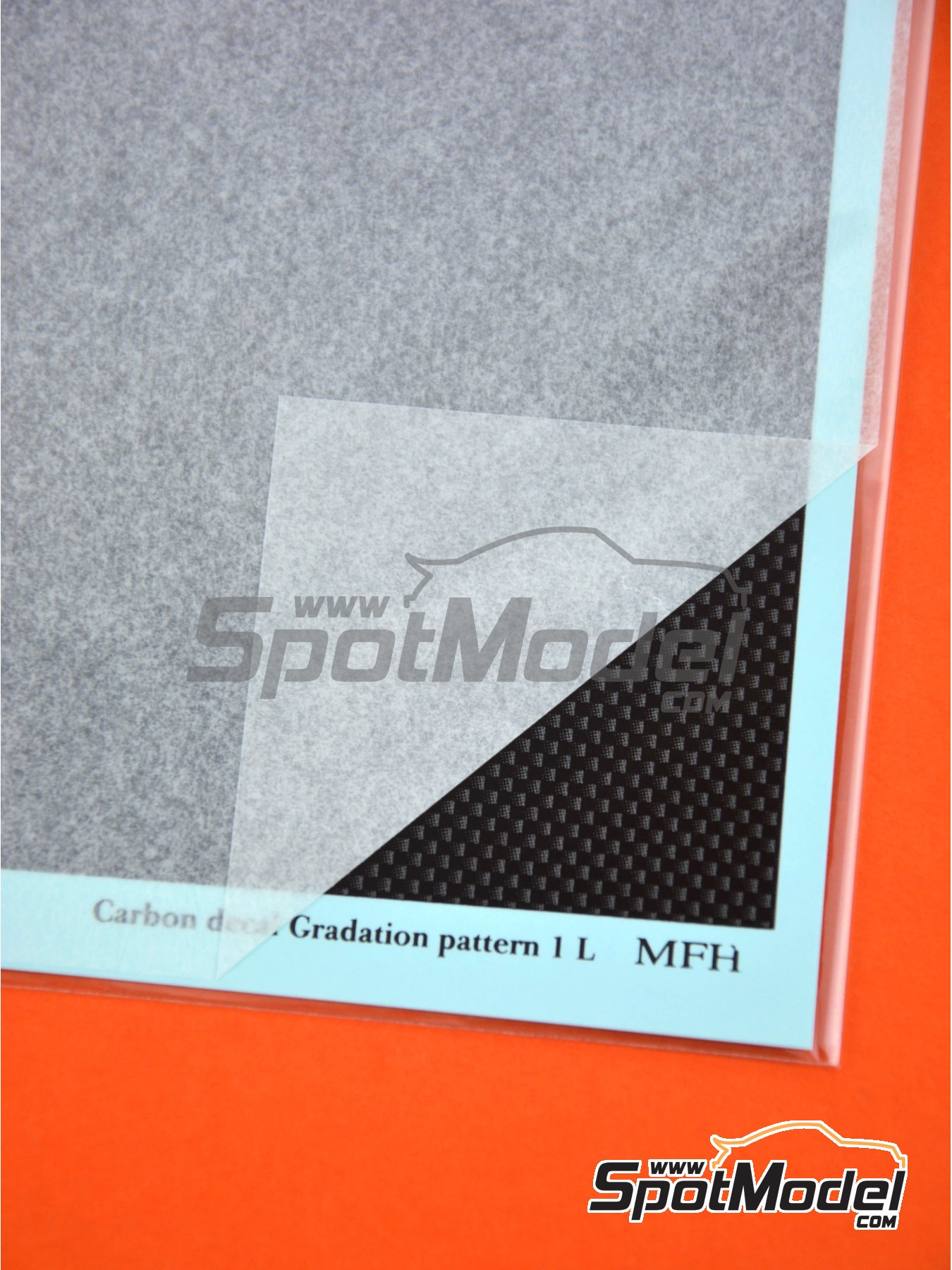 Fibra de carbono con trama de tipo 1 de tamaño grande | Calcas de agua fabricado por Model Factory Hiro (ref.MFH-P1134) image