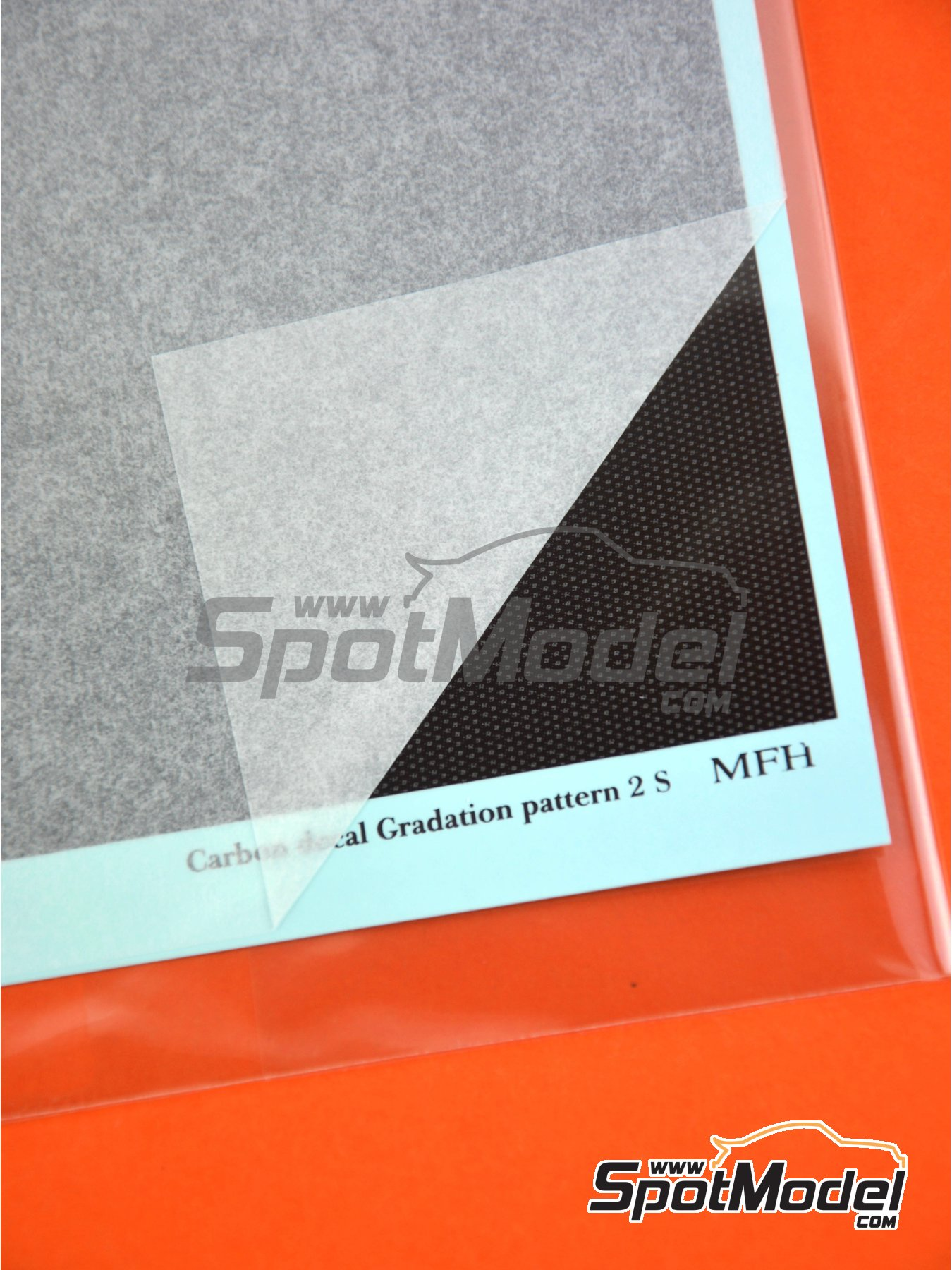 Carbon Decal Gradation Pattern Type 2 Small | Decals manufactured by Model Factory Hiro (ref. MFH-P1135) image