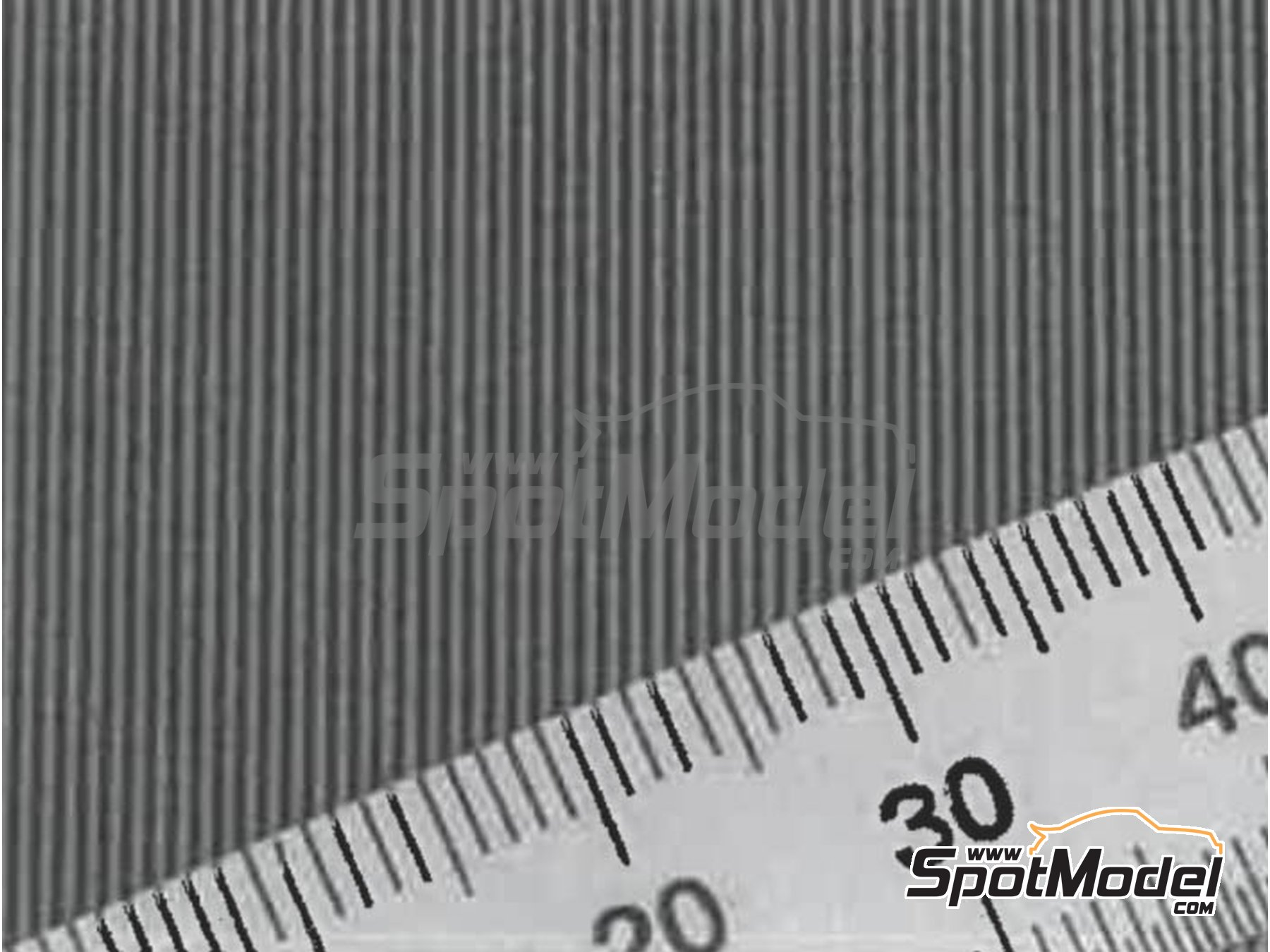 Image 1: Carbon Decal Thick Wave Pattern Type 1 Small | Decals manufactured by Model Factory Hiro (ref.MFH-P1138)