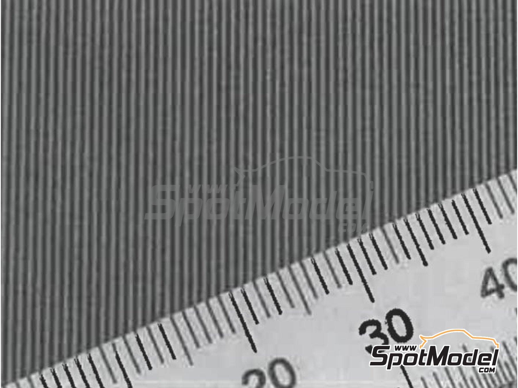 Image 1: Fibra de carbono con trama gruesa de tipo 1 de tamaño pequeño | Calcas de agua fabricado por Model Factory Hiro (ref.MFH-P1138)