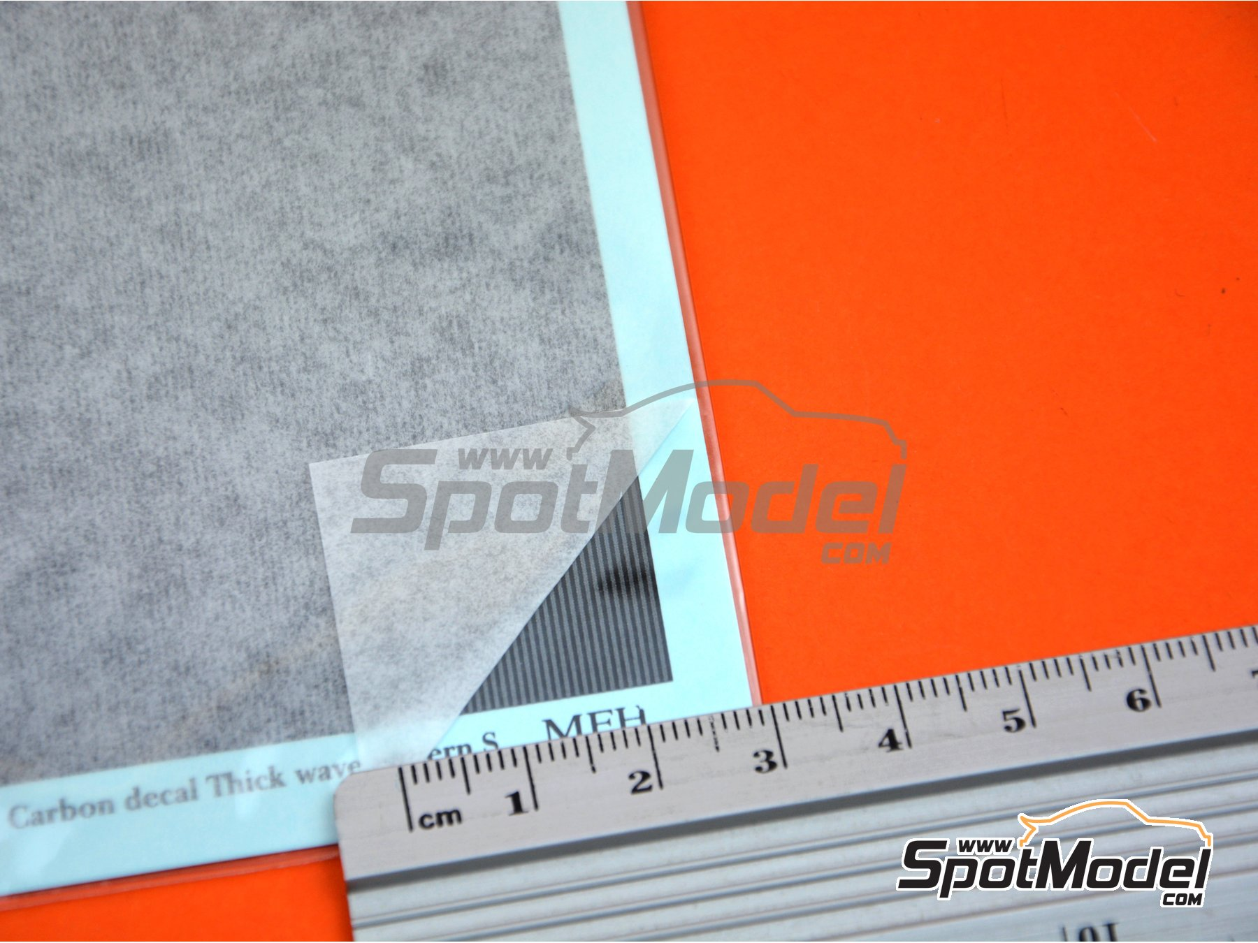 Image 4: Carbon Decal Thick Wave Pattern Type 1 Small | Decals manufactured by Model Factory Hiro (ref.MFH-P1138)