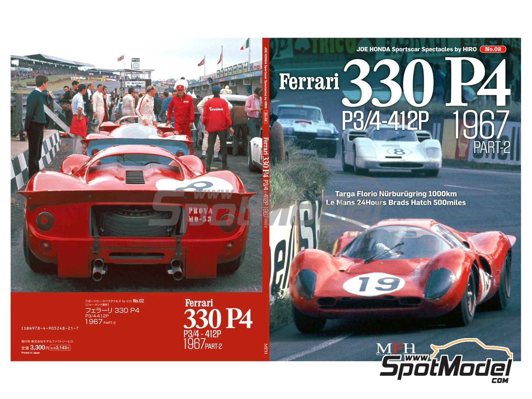 Image 1: JOE HONDA - Sportcar Spectacles - Ferrari 330P4 P3/4 - 412P - Parte Segunda -  1967 | Libro de referencia fabricado por Model Factory Hiro (ref.MFH-SS002)