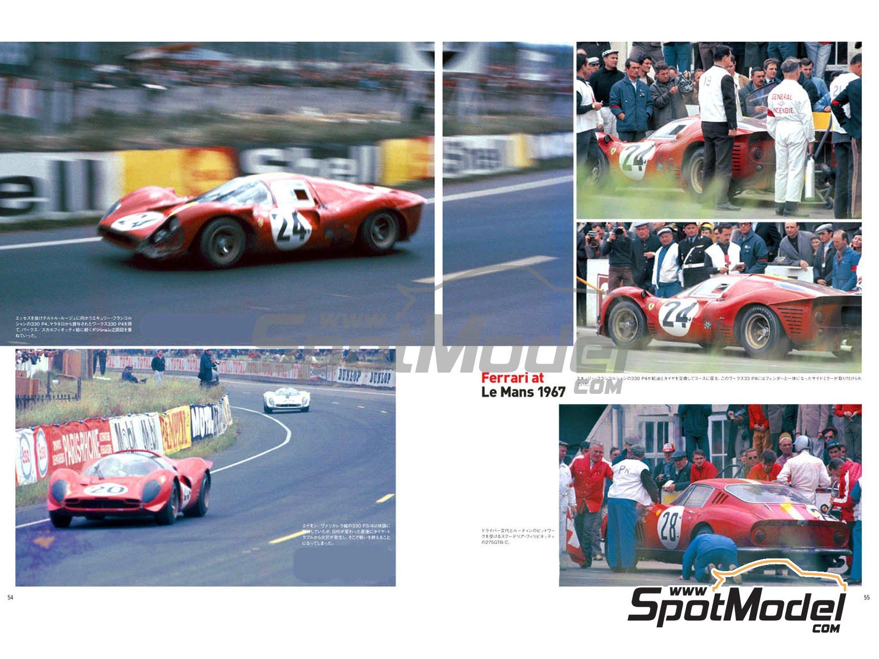 Image 2: JOE HONDA - Sportcar Spectacles - Ferrari 330P4 P3/4 - 412P - Parte Segunda -  1967 | Libro de referencia fabricado por Model Factory Hiro (ref.MFH-SS002)