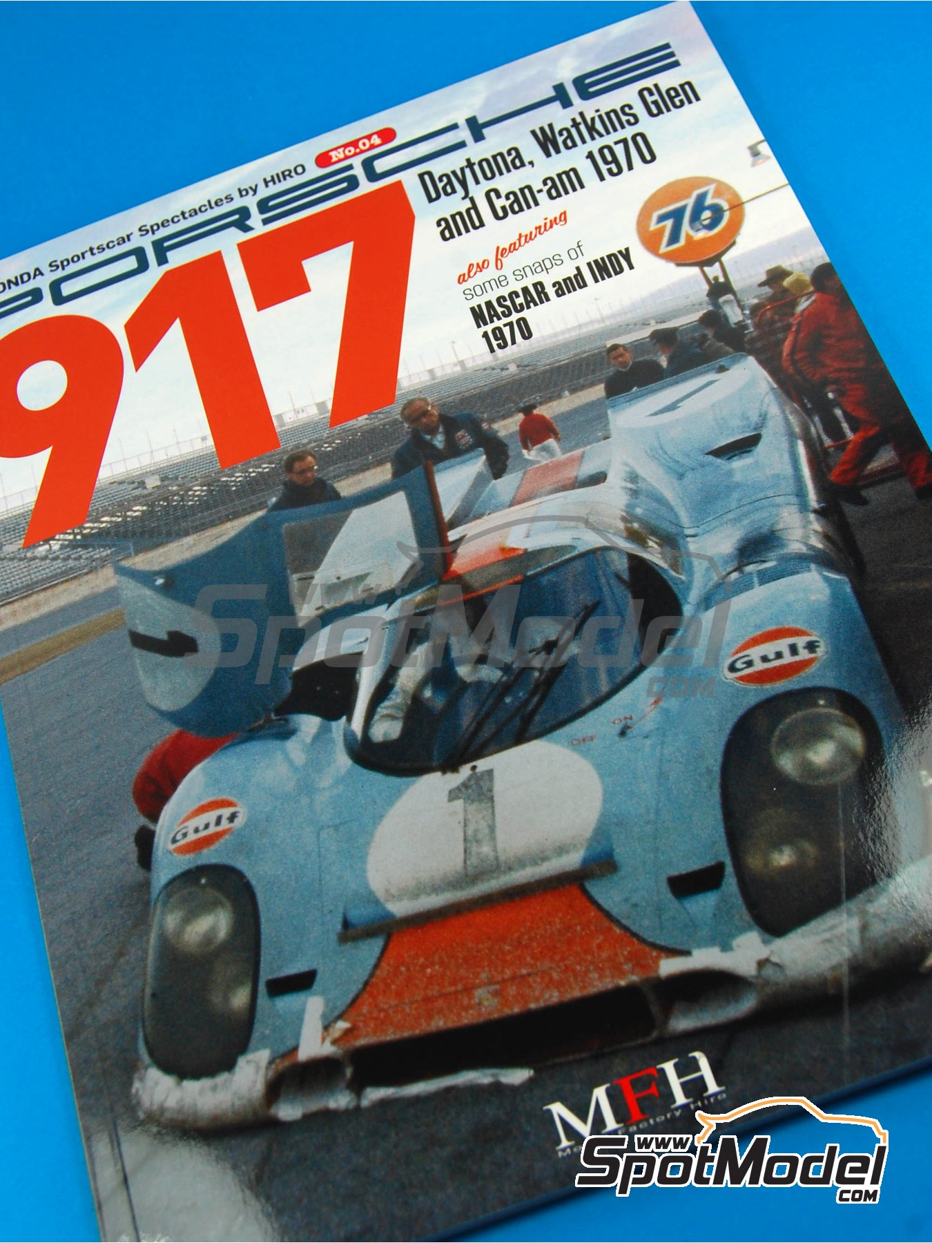 JOE HONDA - Sportcar Spectacles - Porsche 917 - 24 Hours of Daytona, Can-Am Canadian-American Challenge Cup, Watkins Glen 6 Hours 1970 | Reference / walkaround book manufactured by Model Factory Hiro (ref.MFH-SS004) image