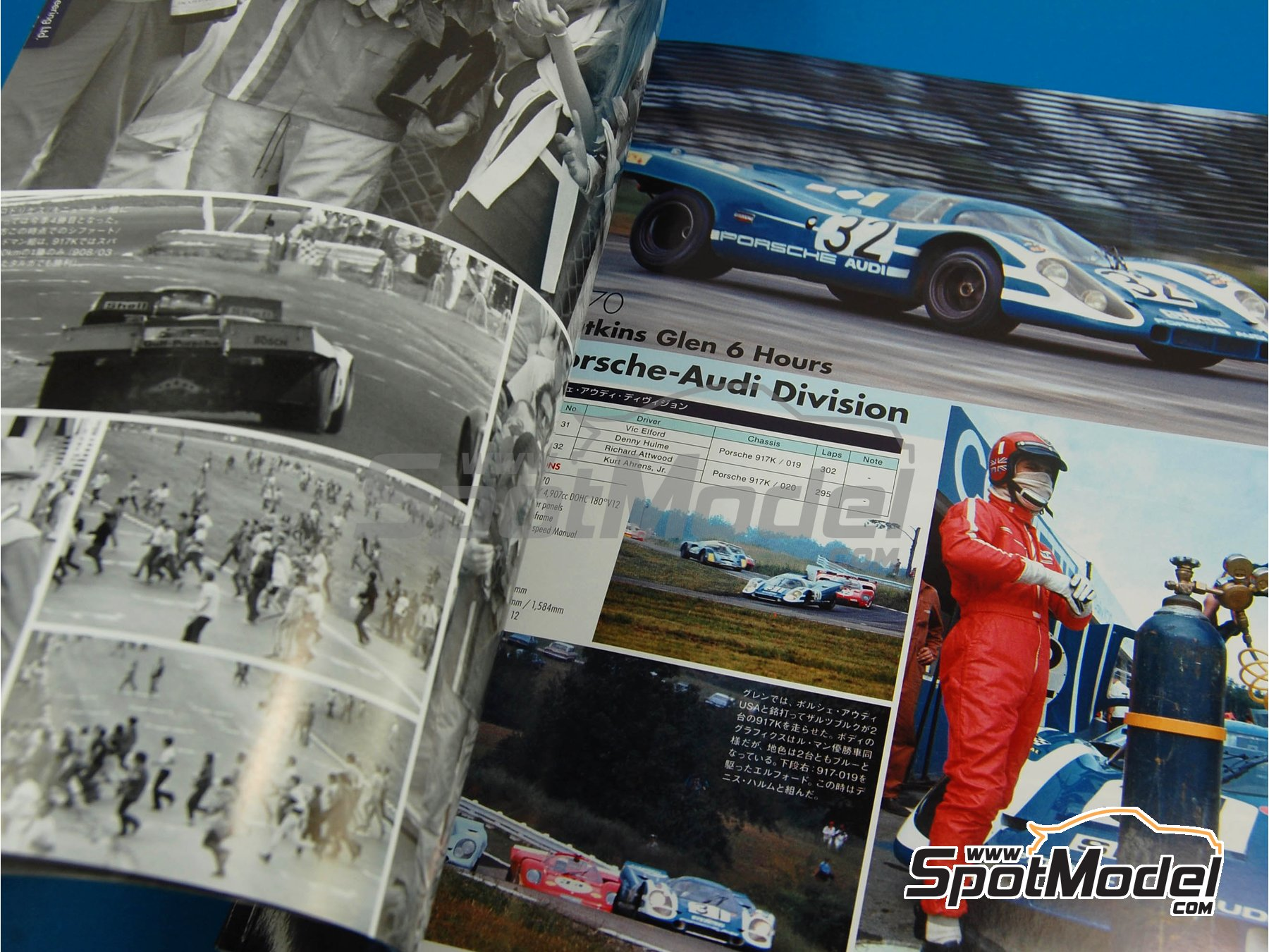 Image 6: JOE HONDA - Sportcar Spectacles - Porsche 917 - 24 Hours of Daytona, Can-Am Canadian-American Challenge Cup, Watkins Glen 6 Hours 1970 | Reference / walkaround book manufactured by Model Factory Hiro (ref.MFH-SS004)