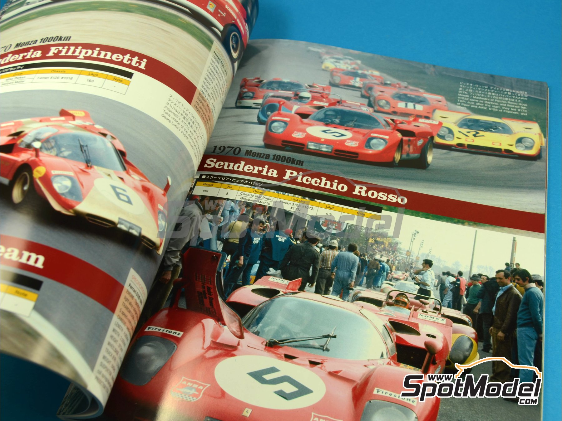 Image 6: JOE HONDA - Sportcar Spectacles - Ferrari 512S -  1970 | Reference / walkaround book manufactured by Model Factory Hiro (ref.MFH-SS005)