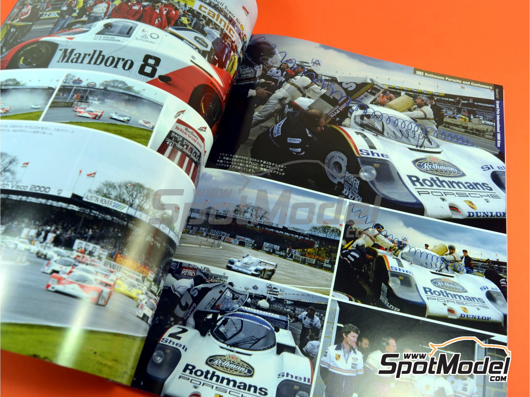 Image 5: Joe Honda Sportscar Spectacles - Porsche 956 - 24 Horas de Le Mans, 1000 Kilómetros de Suzuka, 6 Horas de Silverstone, 6 Horas de Fuji 1982, 1983, 1984, 1985 y 1985 | Libro de referencia fabricado por Model Factory Hiro (ref.MFH-SS007)