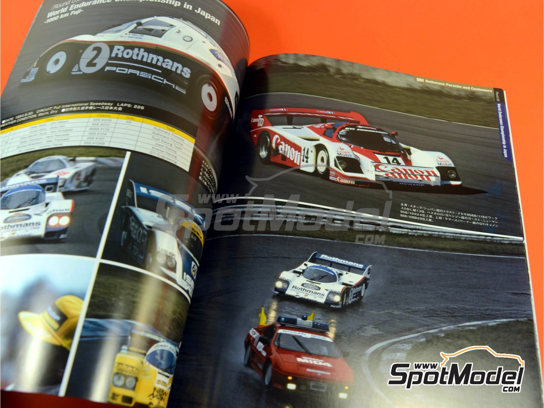 Image 8: Joe Honda Sportscar Spectacles - Porsche 956 - 24 Horas de Le Mans, 1000 Kilómetros de Suzuka, 6 Horas de Silverstone, 6 Horas de Fuji 1982, 1983, 1984, 1985 y 1985 | Libro de referencia fabricado por Model Factory Hiro (ref.MFH-SS007)