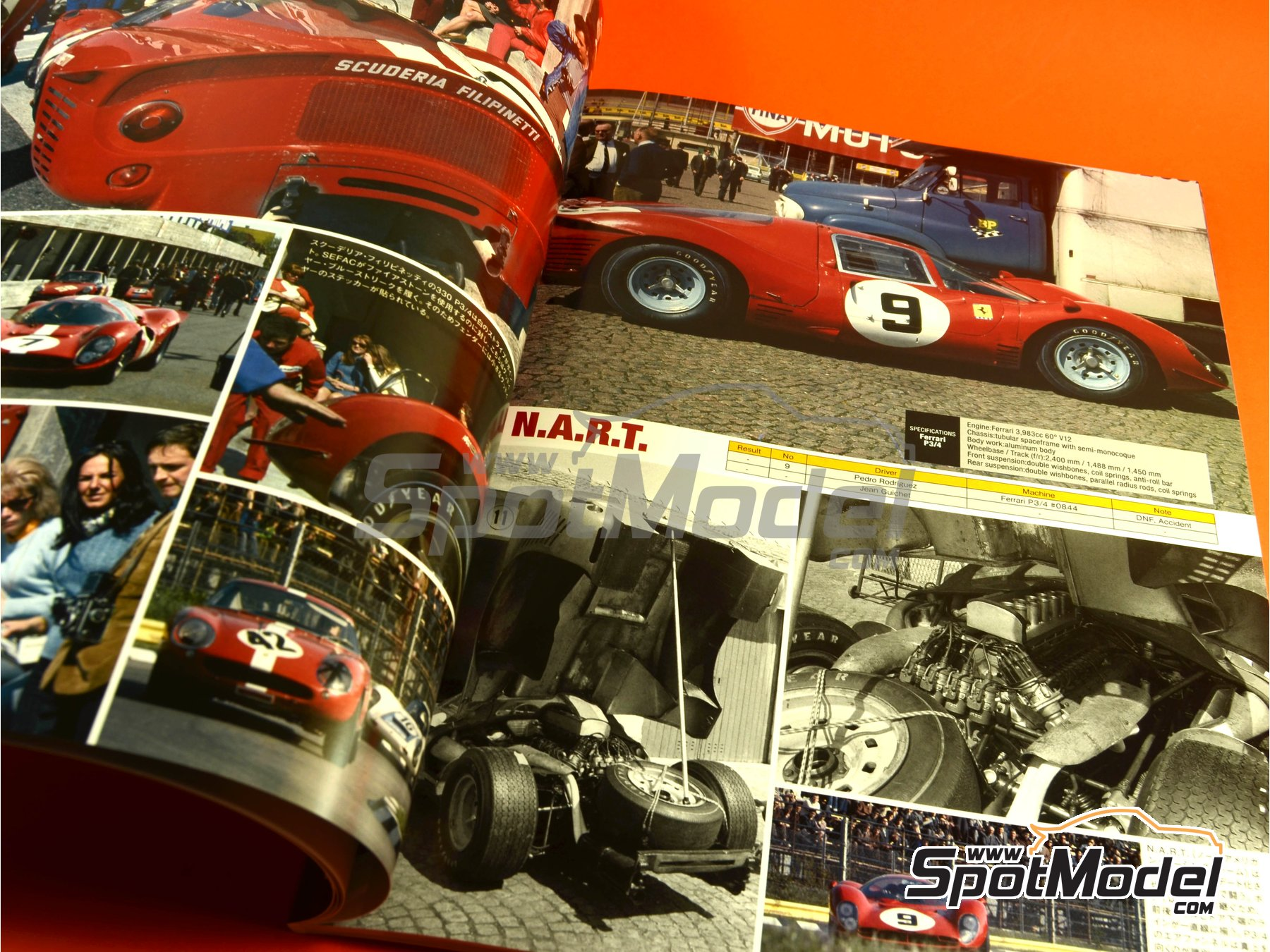 Image 3: JOE HONDA - Sportcar Spectacles - Sport Prototypes - Part 2 - 1000 Kms Monza, 1000 Kms Nürburgring, 1000 Kms SPA, 500 Kms BOAC Sports Race 1967 | Reference / walkaround book manufactured by Model Factory Hiro (ref. MFH-SS009)