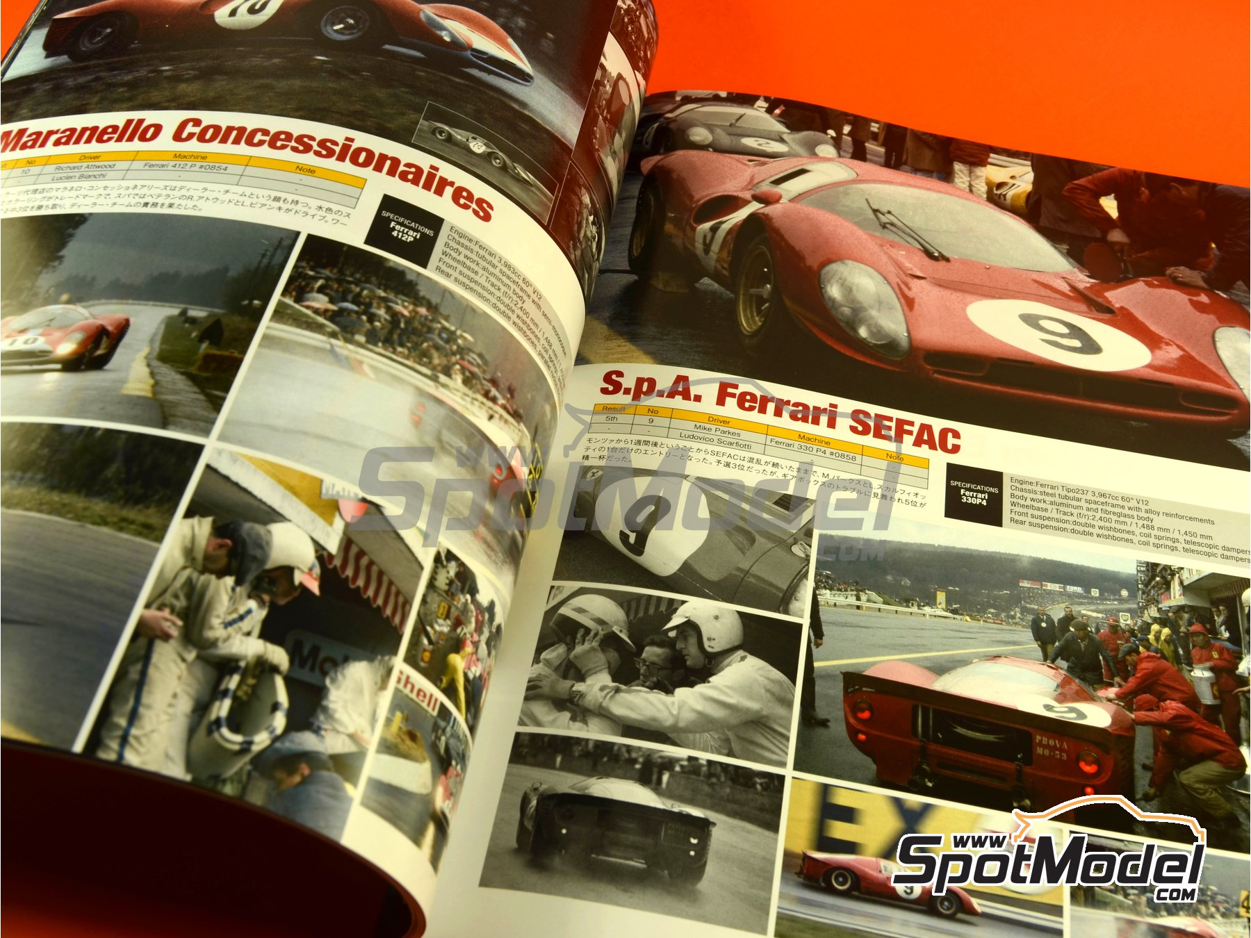 Image 5: JOE HONDA - Sportcar Spectacles - Sport Prototypes - Part 2 - 1000 Kms Monza, 1000 Kms Nürburgring, 1000 Kms SPA, 500 Kms BOAC Sports Race 1967 | Reference / walkaround book manufactured by Model Factory Hiro (ref. MFH-SS009)