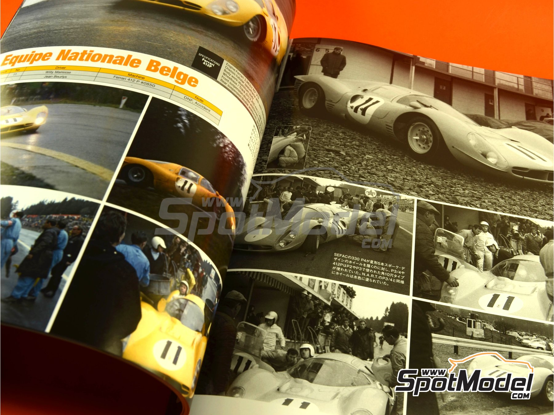 Image 6: JOE HONDA - Sportcar Spectacles - Sport Prototypes - Part 2 - 1000 Kms Monza, 1000 Kms Nürburgring, 1000 Kms SPA, 500 Kms BOAC Sports Race 1967 | Reference / walkaround book manufactured by Model Factory Hiro (ref. MFH-SS009)