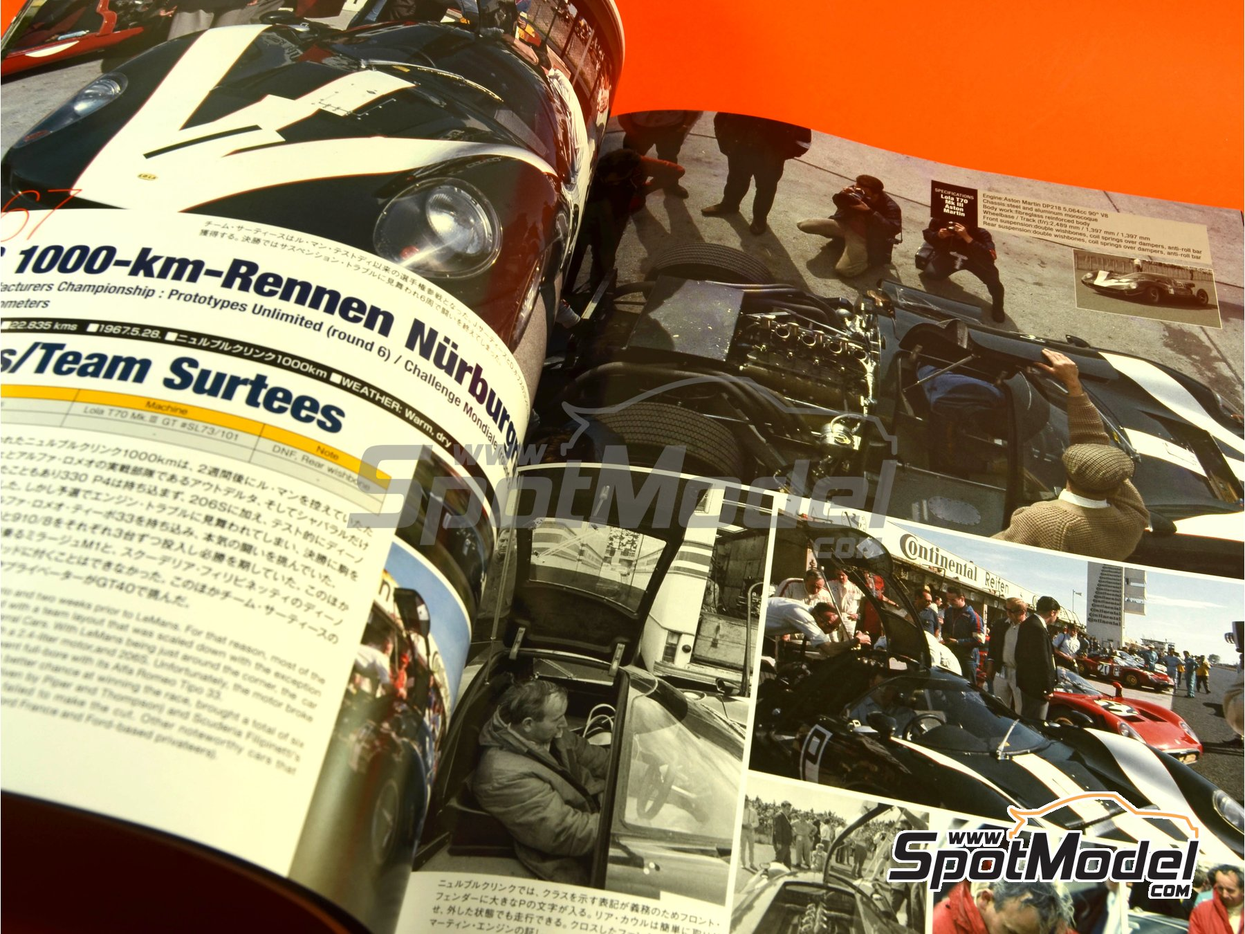 Image 7: JOE HONDA - Sportcar Spectacles - Sport Prototypes - Part 2 - 1000 Kms Monza, 1000 Kms Nürburgring, 1000 Kms SPA, 500 Kms BOAC Sports Race 1967 | Reference / walkaround book manufactured by Model Factory Hiro (ref. MFH-SS009)