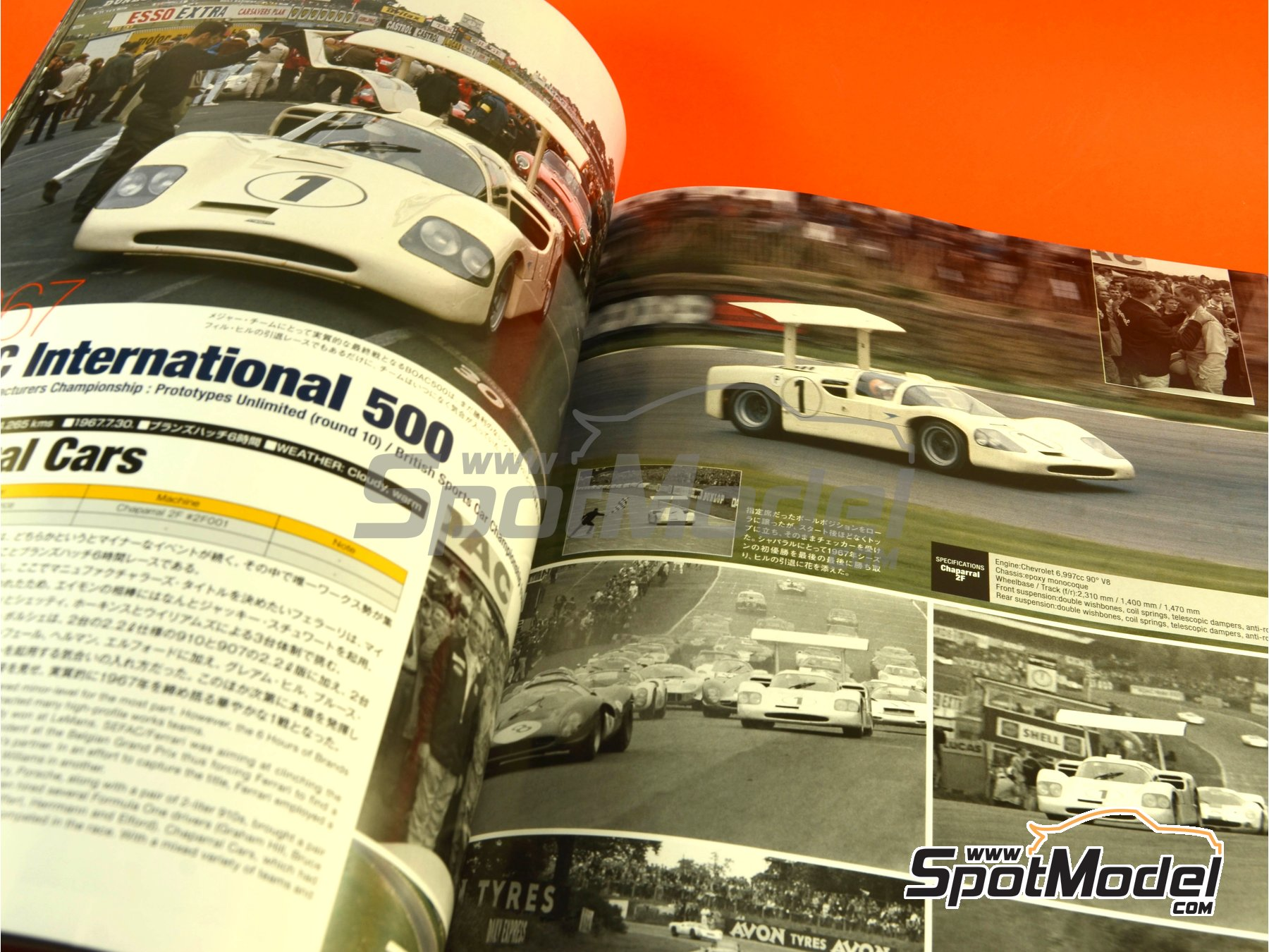 Image 9: JOE HONDA - Sportcar Spectacles - Sport Prototypes - Part 2 - 1000 Kms Monza, 1000 Kms Nürburgring, 1000 Kms SPA, 500 Kms BOAC Sports Race 1967 | Reference / walkaround book manufactured by Model Factory Hiro (ref. MFH-SS009)