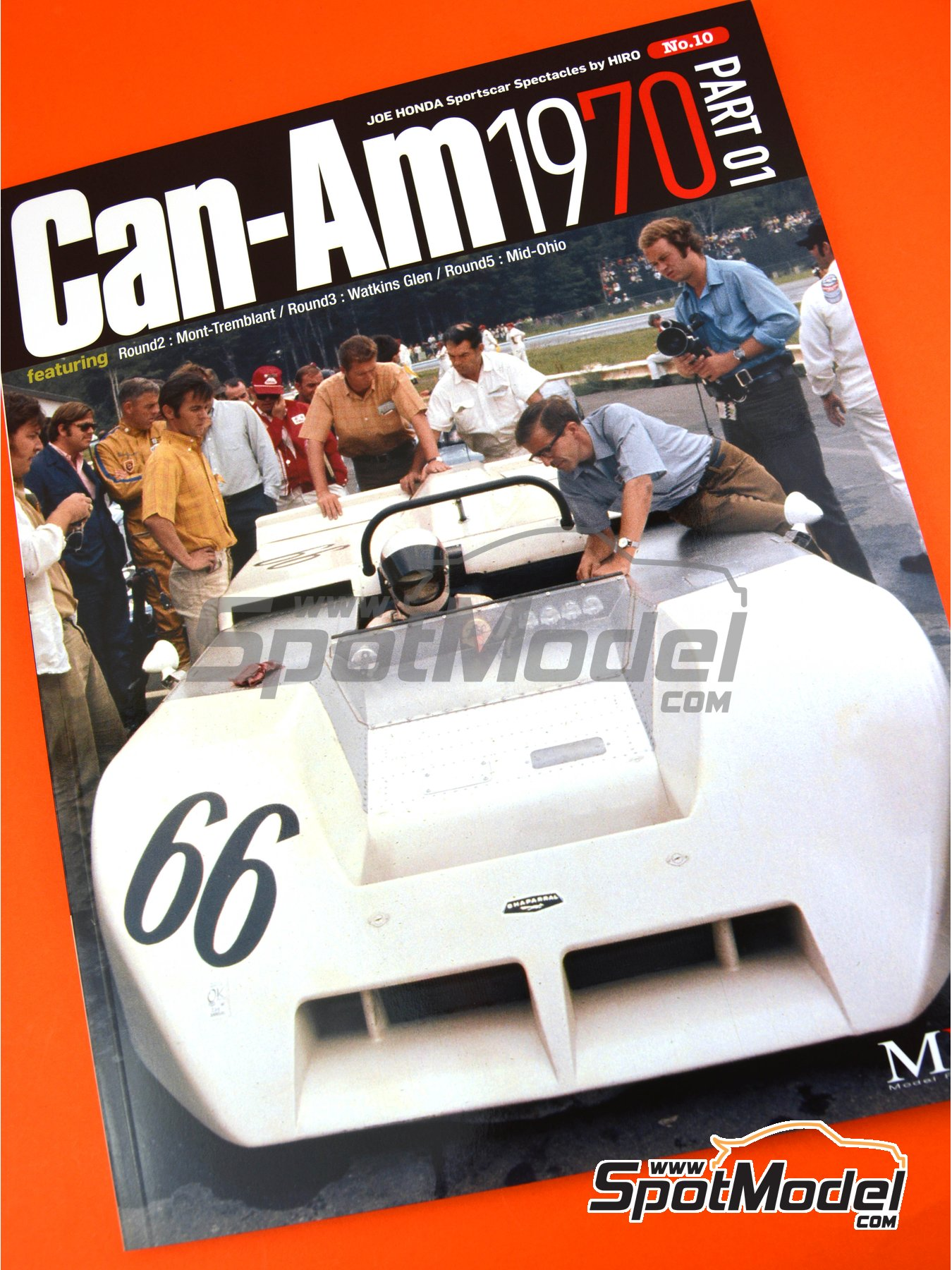 JOE HONDA Sportcar Spectacles by Hiro: Parte 1 - Can-Am 1970 | Libro de referencia fabricado por Model Factory Hiro (ref. MFH-SS010) image