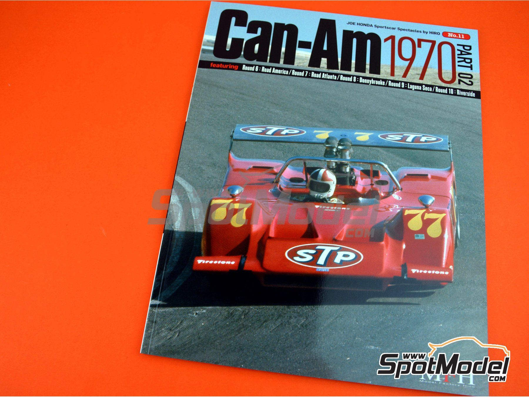 Image 1: JOE HONDA Sportcar Spectacles by Hiro: Part 2 - Can-Am Canadian-American Challenge Cup 1970 | Reference / walkaround book manufactured by Model Factory Hiro (ref. MFH-SS011)