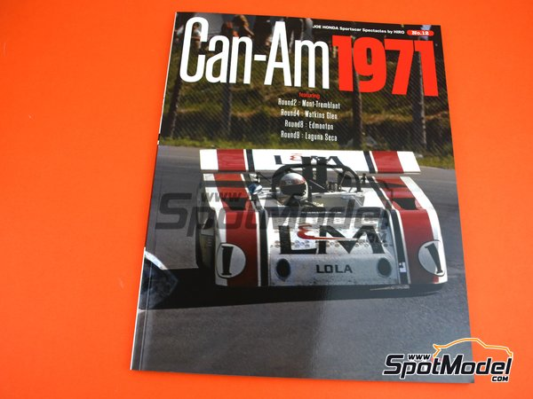 Image 1: JOE HONDA Sportcar Spectacles by Hiro - Can-Am Canadian-American Challenge Cup 1971 | Reference / walkaround book manufactured by Model Factory Hiro (ref. MFH-SS012)