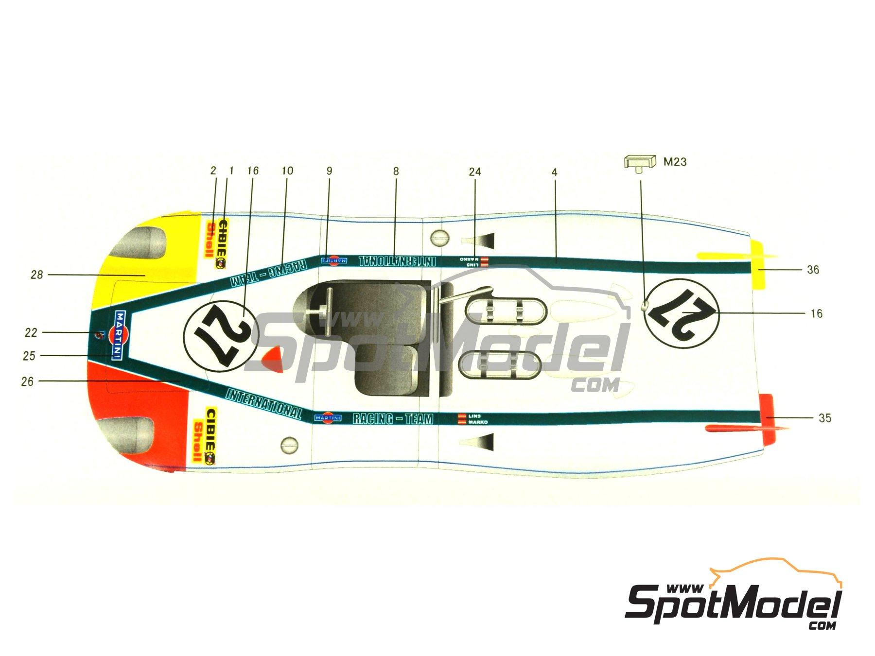 Image 1: Porsche 908/2 Martini - 24 Horas de Le Mans 1970   Maqueta de coche en escala1/24 fabricado por Model Factory Hiro (ref.MH-L-6, tambien MFH-L-6)