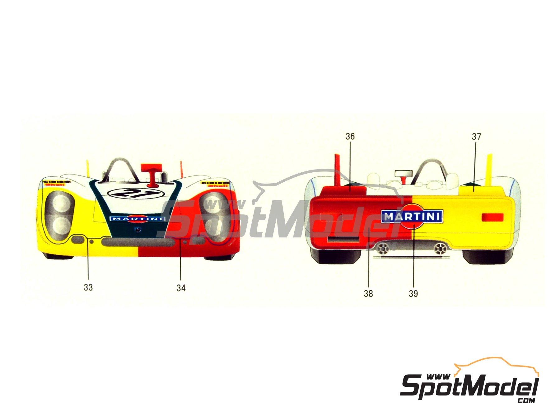 Image 2: Porsche 908/2 Martini - 24 Horas de Le Mans 1970   Maqueta de coche en escala1/24 fabricado por Model Factory Hiro (ref.MH-L-6, tambien MFH-L-6)