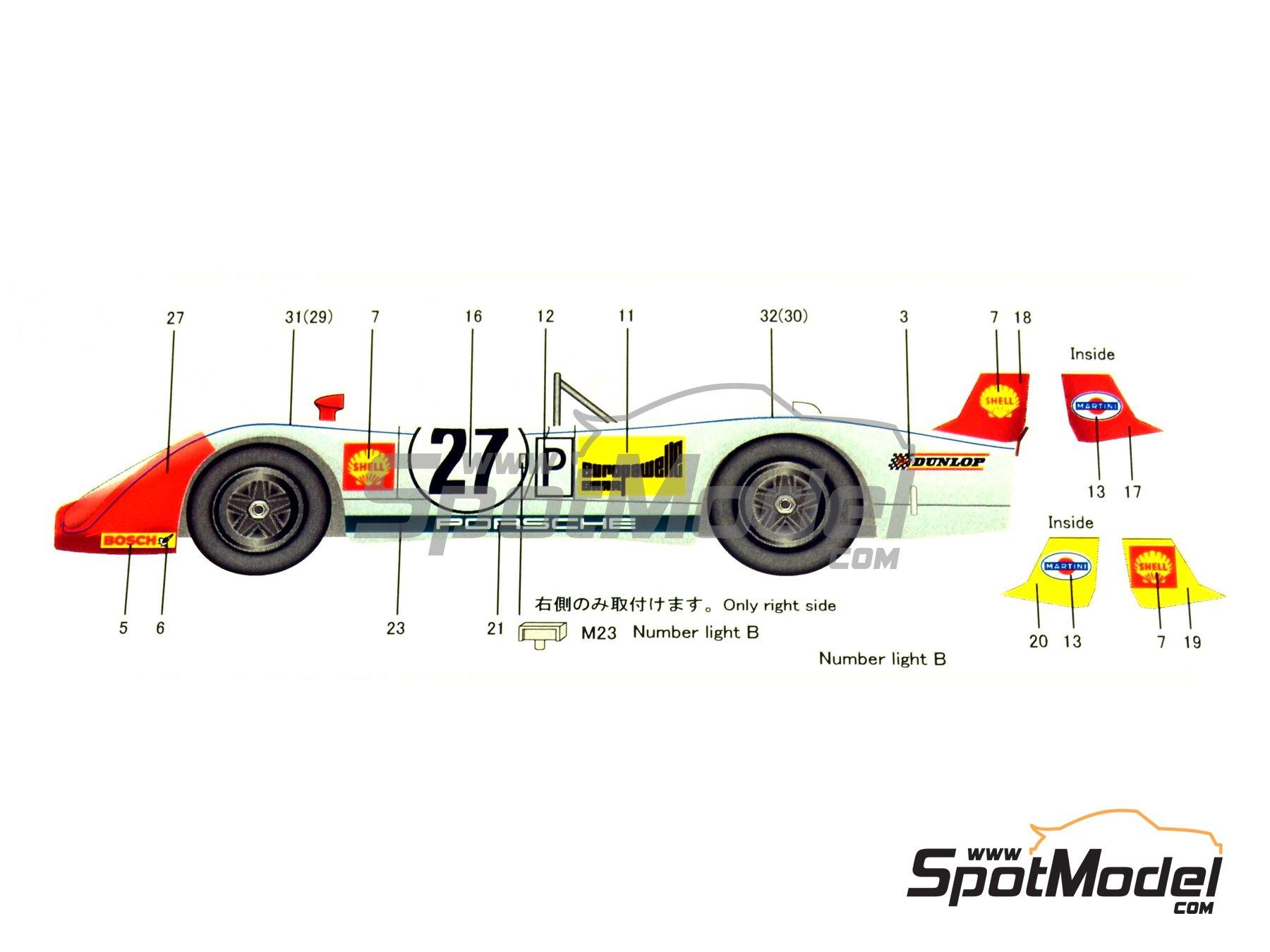 Image 3: Porsche 908/2 Martini - 24 Horas de Le Mans 1970   Maqueta de coche en escala1/24 fabricado por Model Factory Hiro (ref.MH-L-6, tambien MFH-L-6)