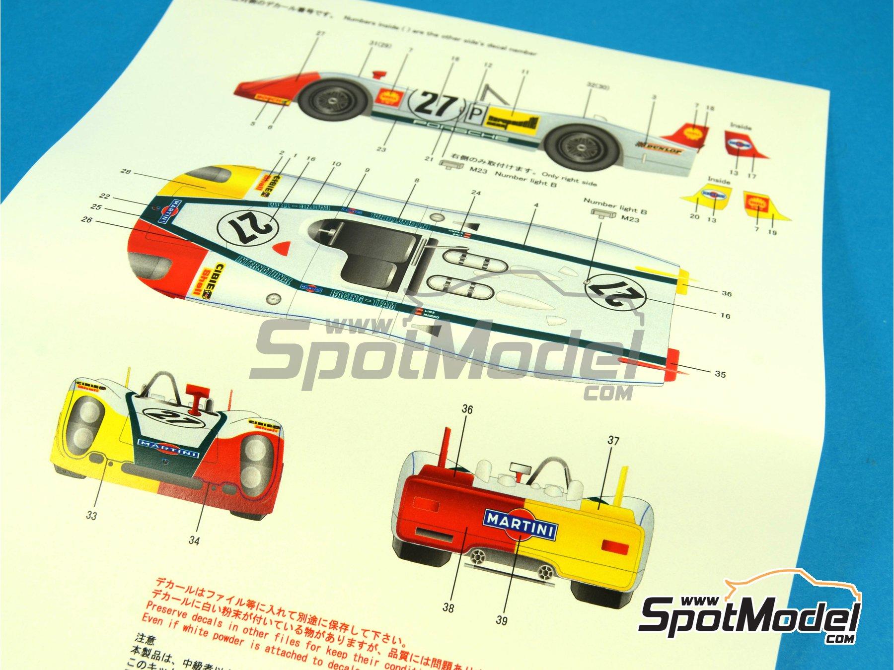 Image 24: Porsche 908/2 Martini - 24 Horas de Le Mans 1970   Maqueta de coche en escala1/24 fabricado por Model Factory Hiro (ref.MH-L-6, tambien MFH-L-6)