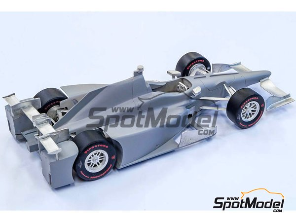 Image 9: Autosport-Honda Andretti Autosport - Indy 2017 | Model car kit in 1/20 scale manufactured by Model Factory Hiro (ref. NBK-002)