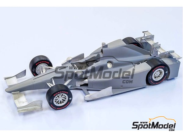 Image 10: Autosport-Honda Andretti Autosport - Indy 2017 | Model car kit in 1/20 scale manufactured by Model Factory Hiro (ref. NBK-002)