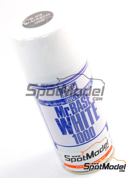 Mr. Base White 1000 - 180 ml - Spray | Primer manufactured by Mr Hobby (ref. B-518) image